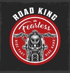 Motorcycle round vintage logo vector
