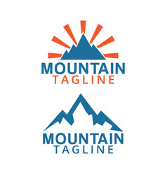 mountain logo icon graphic design template vector image