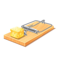 Mousetrap isolated vector