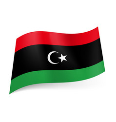 National flag of libya red black and green vector
