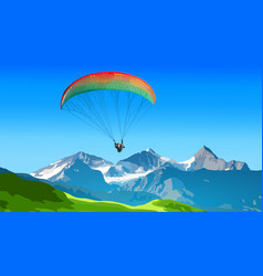 Paraplane sports vector