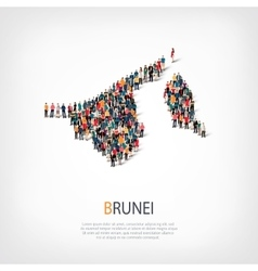 People map country Bruney vector