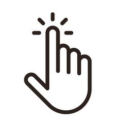 pointer icon clicking icon vector image