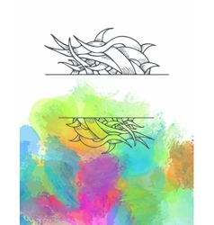 Poster templates with paint splash ribbon vector
