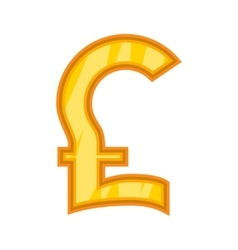 Pound sterling icon cartoon style vector