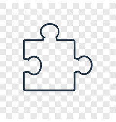 Puzzle concept linear icon isolated on vector