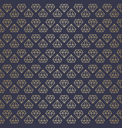 seamless high premium gold diamond pattern vector image