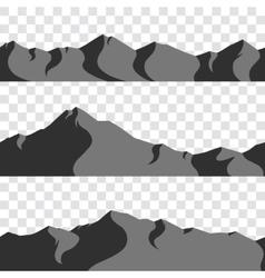 Seamless mountains collection vector