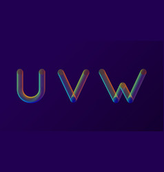 set of colorful modern abstract letters creative vector image