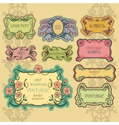 Set of ornate vintage labels Vintage border pack vector image