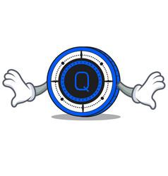 Shock qash coin mascot cartoon vector