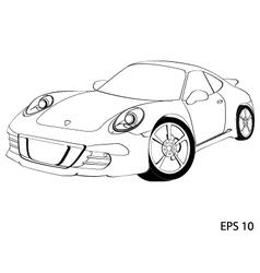 Sports car porsche 911 vector