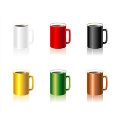 SSet colorful Cups vector image