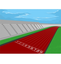 Stadium and racetrack vector