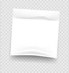 sticky notes realistic white notepad sheet vector image
