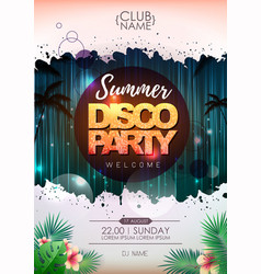 summer party poster design on neon background vector image