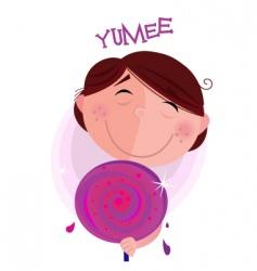 sweet lollipop vector image