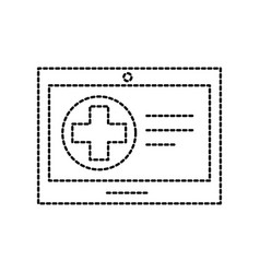 tablet hospital cross online service health vector image