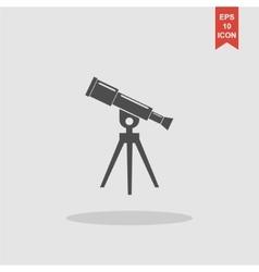 Telescope icon Flat design style vector