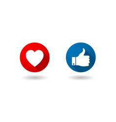the like and love icons vector image