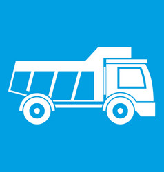 toy truck icon white vector image