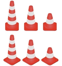 Traffic Cones set vector image
