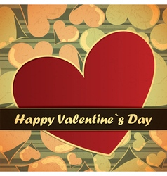 valentine day card with hearts vector image