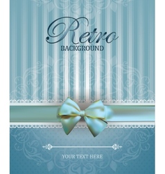 Vintage card with Bow vector image