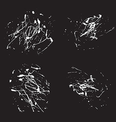 White splatter paint abstract on black background vector