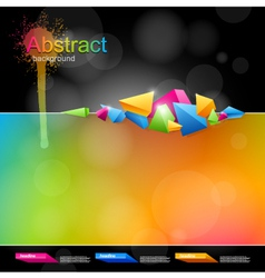 Abstract design in bright colors vector image vector image