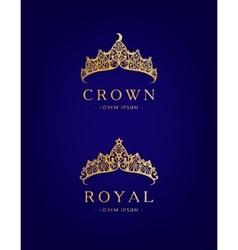 Abstract luxury royal golden company logo icon vector image vector image