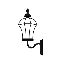 An old lamp in London icon simple style vector image vector image