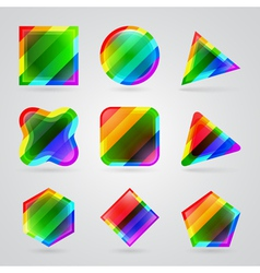 colorful geometric shapes vector image vector image