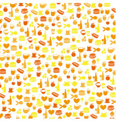 colorful pattern health food products vector image