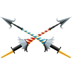 Crossed spear vector image