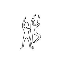 figure people couple dancing icon vector image vector image