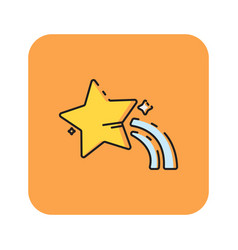 flat color star icon vector image vector image