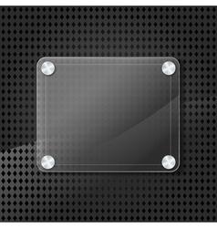 glass frame on grid background vector image vector image