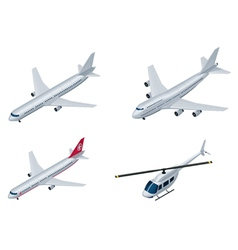 isometric airplanes vector image vector image