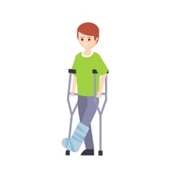 Physically Handicapped Person Living Full Happy vector image vector image