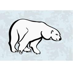 polar bear icons tattoo vector image