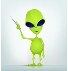 Funny Alien vector image