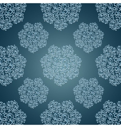Seamless patterns with lace flowers in Victorian vector image vector image