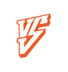 versus letters logo red letters v and s flat vector image vector image