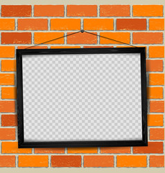 wood frame red old brick vector image