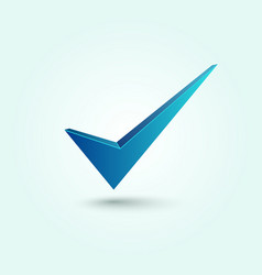 Blue check mark symbol vector