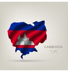 flag of Cambodia as a country vector image vector image