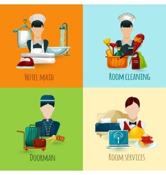 Hotel Maid Set vector image