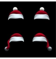 Santa hat black background vector image