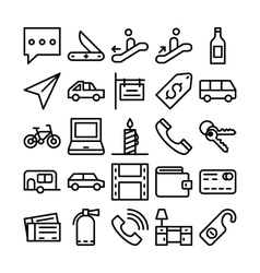 Summer and travel icons 8 vector
